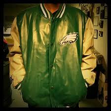 leather philadelphia eagles jacket