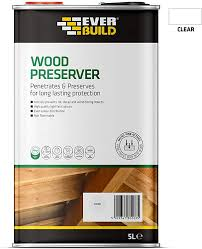 Everbuild Quick Drying Long Lasting Wood Preserver Clear 5 Litre Amazon Co Uk Diy Tools