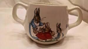 etruria peter rabbit two handle cup mug
