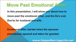 emotional affair how to move past the