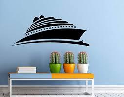 Amazon Com Adecalsnew Cruise Ship Wall Decal Vinyl Sticker Cruise Liner Sea Ocean Home Interior Window Sticker Wall Decor 10c01s Home Kitchen