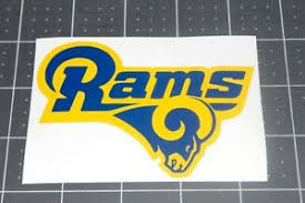 Los Angeles Rams Vinyl Decal Sticker Yellow Blue Window Wall Computer Truck Car Ebay