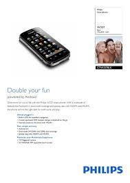 Philips W337 0.1GB Black