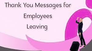 thank you messages for employees leaving