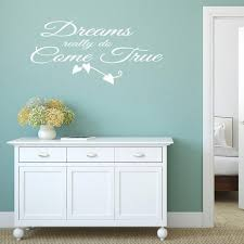 Dreams Really Do Come True Quote Wall Sticker Quote Wall Etsy In 2020 Wall Sticker Wall Quotes Decals Wall Art Quotes