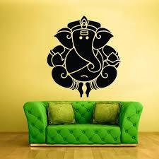 Wall Vinyl Decal Sticker Decal Elephant Ganesh Ganesha Success India B Stickersforlife