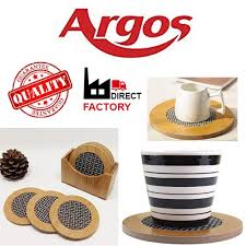argos bamboo tea coaster wooden