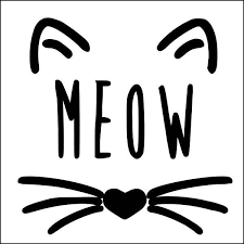 Meow Vinyl Decal Cat Decal Coffee Cup Decal Wine Glass Decal Wall Decor Window Decal Animal Decal Cat Lady Decal Cat Decal Wine Glass Decals Wine Decals