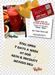 mexican cuisine pepitos restaurant menu