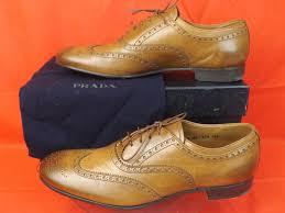 prada new oak mens leather lace up