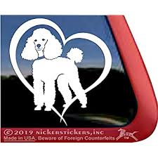 Amazon Com Mini Poodle Love Heart High Performance Vinyl Miniature Poodle Dog Window Decal Car Truck Tablet Laptop Sticker Automotive