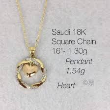 18k gold necklace 2 84g women s