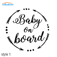 3 Style Baby On Board Sign Baby Car Sticker Baby Car Decal Vinyl Stickers Cars Decor Kids On Board Wife 10cm Wide White L912 Car Stickers Aliexpress
