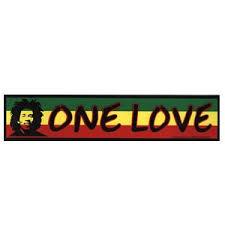 Cs123 Bob Marley One Love Rasta Bumper Sticker