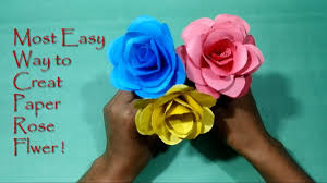 very easy diy paper flower crafts