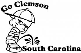 Go Clemson Car Or Truck Window Decal Sticker Rad Dezigns