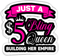 Amazon Com Plgood Straws 5 Bling Queen Building Paparazzi Cool 4x3 Vinyl Stickers Laptop Decal Water Bottle Sticker Set Of 3 Kitchen Dining