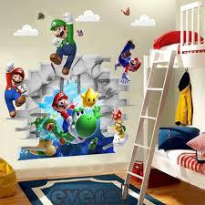 3d View Super Mario Games Art Kids Room Decor Wall Sticker Wall Decals Mural Ws Sticker Wall Decal Wall Decalswall Sticker Aliexpress