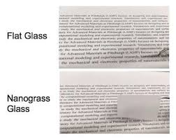 nanograss glass turns clear or cloudy