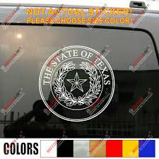 Seal Of Texas State Decal Sticker Car Vinyl Usa Pick Size Color Ebay
