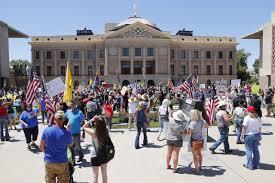 stay-at-home order at Arizona Capitol