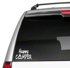 Happy Camper Camping Hiking Hiker Camp Car Window Sign Vinyl Decal Sticker For Sale Online Ebay