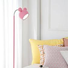 Luxury Japanese Style Pink Floor Standing Lamp Tall Piano Light Kids Led Floor Lamp Girl Princess Study Reading Floor Lights Lambader Japanese Style Pink Floor Standing Lamp Tall Piano Light Kids Led Floor