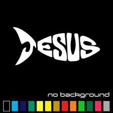 Jesus Fish Sticker Vinyl Decal Christian Religion Cross God Wall Car Window Ebay