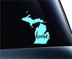 Amazon Com 3 Home Michigan State Lansing Symbol Sticker Decal Car Truck Window Computer Laptop Mint Automotive
