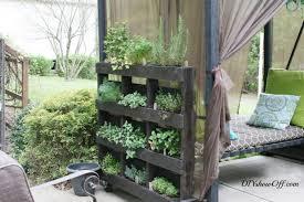 free standing diy pallet herb garden