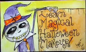creepy witch makeup cl art