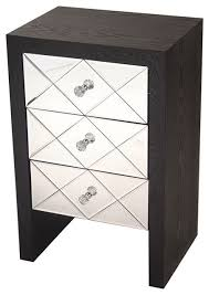 mirror front accent cabinet mdf wood