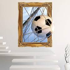 Amazon Com Home Find 3d Soccer Ball Football Wall Stickers Decorative Peel Vinyl Wall Stickers Wall Decals Removable Decors For Living Room Kids Room Baby Nursery Boys Bedroom Home Kitchen