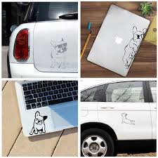 French Bulldog Laptop Decals For Apple Macbook Air Pro Decoration Funny Dog Silhouette Vinyl Sticker Decal Car Window Decor Wall Stickers Aliexpress