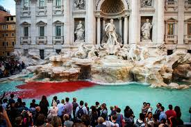Trevi Fountain Turns Red Once Again - BenvenutoLimos