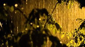 heavy rain sound video in beautiful