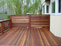 exotic decking privacy screen and