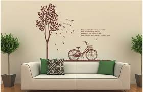 Tree And Bike Wall Decal Bike And Tree Wall Decal Living Room Bicyle Ellaseal
