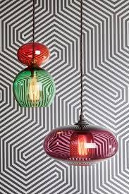 70s inspired glass lighting design