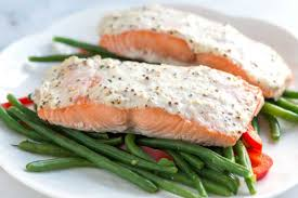Easy Sour Cream Baked Salmon