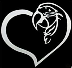 Z Decal Ng Macawheart Macaw Heart Window Decal Bird Parrotphenalia