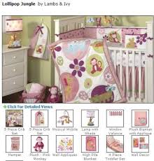 girls monkey baby bedding