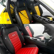 mustang custom leather seats 2016