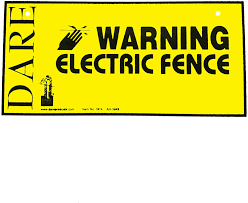 Amazon Com Dare Products 1614 3 185809 Electric Fence Warning Sign 3 Pack Yellow Pet Supplies