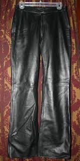 vintage vakko black leather bootcut