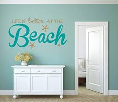Amazon Com Life Is Better At The Beach Vinyl Wall Decal Wall Sticker Beach Wall Sign Beach Paradise Aloha Palm Trees Sandy Toes Theme Custom Wall Decal Sticker Handmade