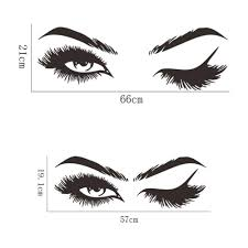 Lash And Brows Eyes Quote Wall Sticker Vinyl Eyelashes Wall Decals Girls Bedroom Eyebrows Home Decor Buy At A Low Prices On Joom E Commerce Platform