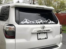 Mountains Decal For Back Window Fits Toyota 4runner Jeep Wrangler And More Flag Ebay