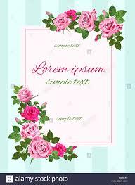 Vector Vintage Invitaciones De Boda Con Rosas Rosas En El Fondo