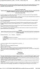 annexe notice descriptive prévue par